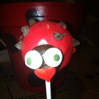 Ladybug Cake Pop My first attempt at cake pops. Face is a junior mint.