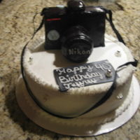 Camera Cake   yellow cake vanilla custard filling bc/ fondant ...TFL