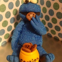Cookie Monster Out Of Gumpaste Cookie Monster out of gumpaste