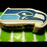 Seattle Seahawks Cake A birthday cake made for my grandson's 8th birthday party.