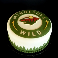 Minnesota Wild Hockey Cake This cake was donated to a local residential recovery center for their March childrens' birthday celebration - as a member of Birthday...