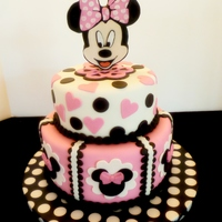 Minnie Mouse Cake This cake was donated to a local residential recovery center for their March childrens' birthday celebration - as a member of Birthday...