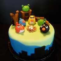 Angry Birds A cake donated to the monthly childrens' birthday celebration at a local residential recovery center - as a member of Birthday Cakes 4...