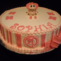Twin's Birthday Cake   Sophia's Cake. She wanted her doll, Lalaloopsy, on her cake.