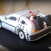 Delorean Grooms Cake  This was a groom's cake I made for a good friend's wedding this past weekend. First time I've ever attempted carving a car...