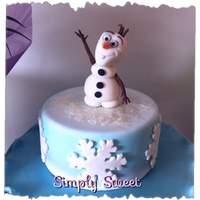Olaf Little olaf cake with hand made edible olaf