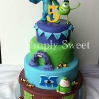 Monsters Inc   I was contacted by icing smiles to make a cake for a little boys 5th birthday. This is the cake I made! It was such an honor!