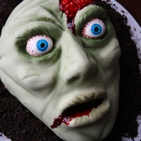 Zombie   Zombie head cake, all edible