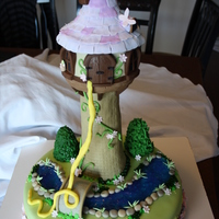Tangled Cake   Everything was made by hand and is edible