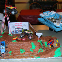 Monster Truck Cake My 4 year old son loved this monster truck cake. I had a lot of fun doing this one!
