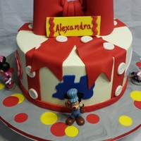 A Different Kind Of Mickey Mouse Cake  A client contacted me and wanted a cake that incorporated the character figures she already had. There are tons of Mickey Mouse cakes that...