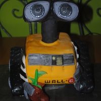 Wall-E Brownies covered in buttercream and fondant