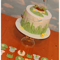 Little Toad Baby Shower Little toad baby shower theme. Client was making her own cupcakes so she just went with matching toppers.