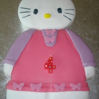 Hello Kitty Birthday Cake For my daughters 4th birthday
