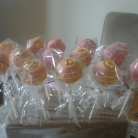 Cake Pops My first attempt at these. Sold really we at the school fair this year.