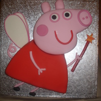 Peppa Pig Birthday Cake My first attempt at a Peppa Pig cake.