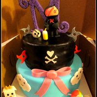 Tokidoki Cake For my best friend that loved Tokidoki and ninjas... I combined it into 2 tiers, bottom for the sweet side of characters, and top is the...