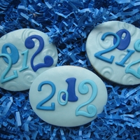 2012 Graduation Cookies NFSC w/ fondant on top. My daughter took these to her high school graduation picnic.