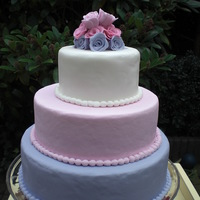 3 Tier Wedding Cake Roses (Allergen Free)  This cake was made as a demonstration cake for an annual event of the National Food Allergy Foundation. It's a three tier round...