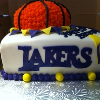 Lakers Cake   LA Lakers Themed Birthday cake