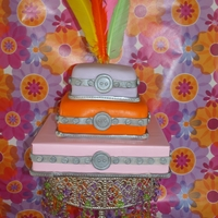 Boxes Cakes Saw this cake in Wilton new book and I did it for my godchild