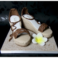 Summertime Wedges   made of cake, it's too bad, I really want to where these!