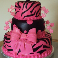 Pink Zebra   I got inspired by pinkcakebox. 12,8,6 inch