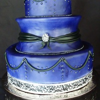 Purple & Black Last minute wedding cake for Radio DJ Groom and Drummer Bride