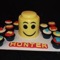 Lego Head And Cupcakes