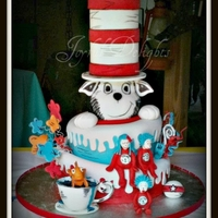 Cat In The Hat   Cat in the hat birthday cake for Thing 1 Thing 2 and Thing 3