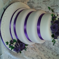 My Nephews Wedding Cake 2 Fruit Cake And One Sponge Tier   My Nephews wedding cake 2 Fruit cake and one sponge tier.