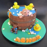 Baby In Bath Tub Baby in bath tub cake for a babyshower
