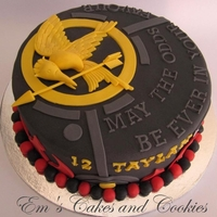 The Hunger Games Cake based on The Hunger Games (yes, used British spelling for the quote :-))