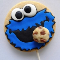 Cookiemonster Cookie Pop Cookie monster Cookie on a stick