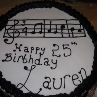 Music Notes Banana cake with buttercream filling and icing