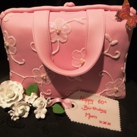 Pink Embroidery Handbag