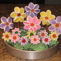 Flower Cupcakes For a woman's birthday. :)