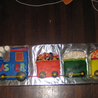 Train Cake Birthday cake for a one year old little boy.