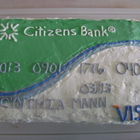 Bank Card  This was a last minute cake I put together for my mother in law (who works at Citizens Bank). I literally went to the store at 8 to get...