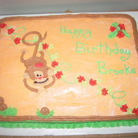Monkey Time Freehand monkey cake with BC.
