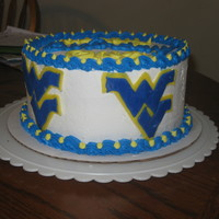 Wvu Cake this cake was made for a WVU fan.