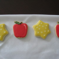 Apple And Star Cookies   Made for my daughters teachers at nursery school.