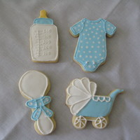Baby Cookies   Made for my sons kindergarten teacher who is expecting.