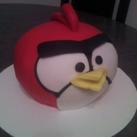 Angry Bird vanella cake, with buttercream, Just a quick cake, For my grandsons, B/D, Till his party,