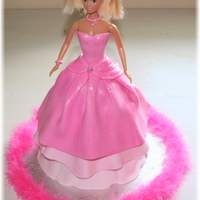 Pink And Glitter Barbie Cake