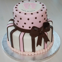 2 Tier Pink, White And Brown