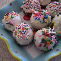 Mini Cupcake Bites  This was my first try at these and so far my only. I really want to try them again since I have learned so much since these like thinning...