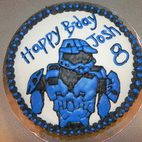 Blue Spartan Halo! Buttercream and Royal Icing