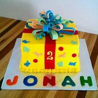 Yellow Buttercream With Fondant Decorations *yellow buttercream with fondant decorations