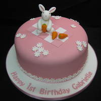Pink Rabbit Cute pink rabbit for a first birthday